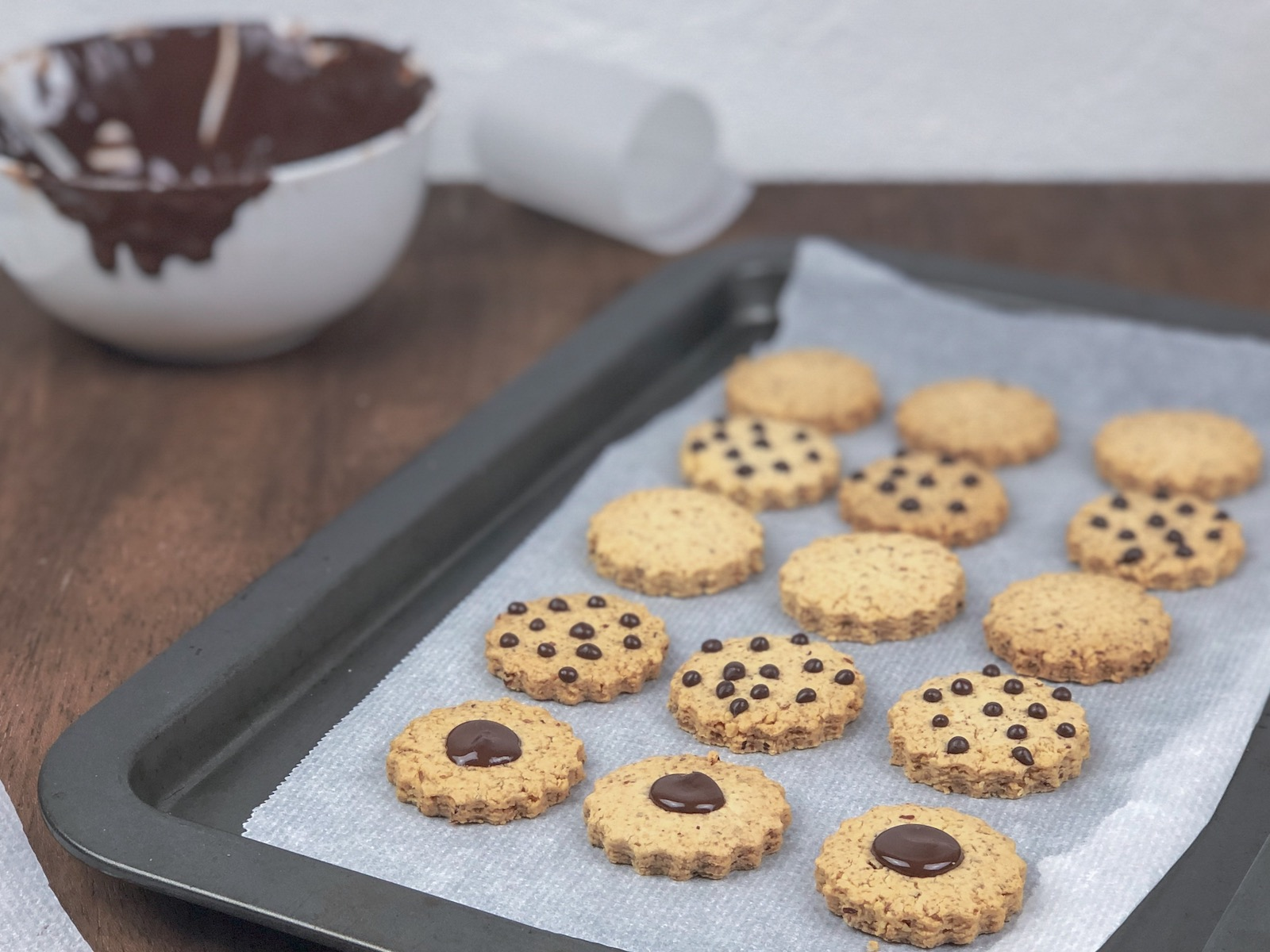 Shortbread almond biscuits